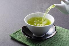 A cup of green tea.