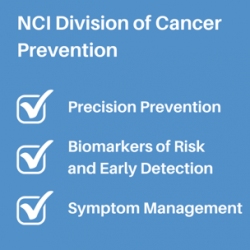 NCI Division of Cancer Prevention: Precision Prevention, Biomarkers of Risk and Early Detection, Symptom Management