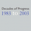 Cover page of 'Decades of Progress 1983-2003'.