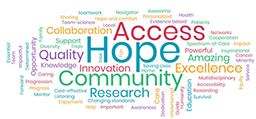 NCORP researchers and staff described the impact of the program in their communities in their own words, creating a real-time word cloud.