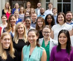 Partial group photo of the 2019 CPFP fellows with the CPFP Director.