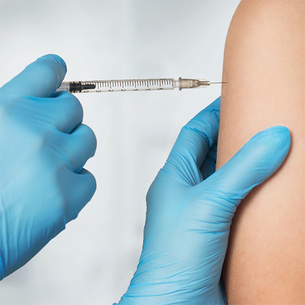 An image of a person getting vaccinated.