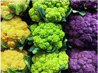 Image of different colored cauliflower.